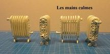 Miniatures - heating the house / How to make fireplace, fire, heating for the dollhouse