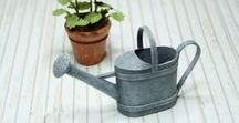 Miniatures - garden outdoor / How to make pots, watering can, etc for the dollhouse garden