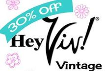 Spring Sale - Hey Viv ! Vintage on Etsy til May 31, 2016 / Hey Viv !  all vintage dresses, skirts, tops, jewelry and accessories are on sale 30% off.  Pick up something cute for Spring :)  Hey Viv Vintage on Etsy - Fanciful and Vibrant Vintage  Clothing   bit.ly/HeyVivEtsySale