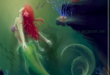 """Neptunes Garden / """"...to slip beneath the surface and soar along the silent bottom of the sea agile and shining in water honeycombed with light.""""  ― Ellen Meloy / by Jennifer Henderson"""