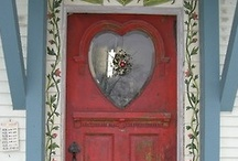 """Behind closed doors / """"When one door of happiness closes, another opens; but often we look so long at the closed door that we do not see the one which has been opened for us."""" -- Helen Keller / by Jennifer Henderson"""