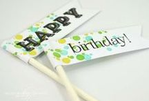 Happy Birthday / Celebrate a special birthday party with a handmade card, delicious cupcakes, cake decorations, balloon bouquets, party invitations and even crafty confetti.  / by Craft-e-Corner Oshkosh, WI