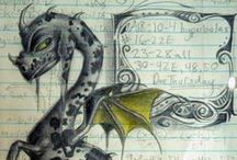 Dragons / Fantasy, Elemental and works of Art Depicting Dragons.   / by Trish Rademacher
