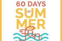 """60 Days of Summer Fun / This is your simple solution to, """"Mom, I'm bored."""" With 60 easy ideas, fun is at your fingertips and your kids are going to think you're the most creative mom on the block! http://imom.com/60-days-of-summer/ / by iMOM"""