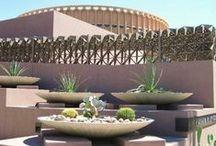 Arizona State University #ASU #Architecture / The main campus of #ArizonaState University #ASU in Tempe, #Arizona has a diverse mix of unique architecture that provides visual awe.