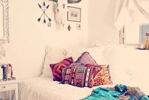 Hali's and Caitlin's room makeover / Boho, hippie, vintage style / by Amber Parham