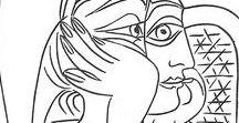 Line Art / famous artists sketches