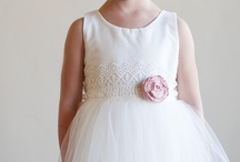 Ivory flower girl dresses / Flower girl dresses by Gilly Gray www.gillygray.com