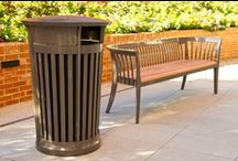Litter/Recycling Receptacles / Landscape Forms offers a wide array of site furniture including outdoor litter receptacles, trash containers and ash urns to suit a variety of applications and budgets.  / by Landscape Forms