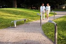 Bollards / Path Lighting / We offer bollards with distinctive aesthetic profiles, in steel and aluminum, for a range of functions and applications.  / by Landscape Forms