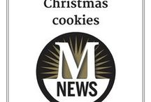 "Christmas cookies / Random fact: A Christmas cookie sale in southeast Michigan is sometimes called a cookie walk. You ""walk"" around the sale table to make your selections, and purchase the cookies by the pound."