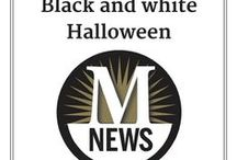 Black and White Halloween / Black and white is trendy, goth and retro all at once. The color scheme also is a good pick for a newspaper account! Here's our collection of black and white Halloween decor, crafts, food and fun pins.