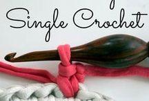Single crochet / Krátky stĺpik / Feste Masche / crocheting, hackeln, háčkovanie