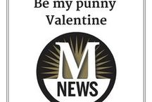 Valentine Puns / Yes, we're fond of the journalism themes. But we found some other great puns as well.