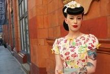 Oh So Retro / Late '40s through mid-'60s style in hair, makeup, and dress. Rockabilly and modern tattoo'd beauties.