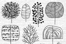 Drawing & Design Inspiration - Trees / by Floating Cloud