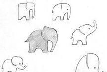 Drawing & Design Inspiration - Elephants / by Floating Cloud