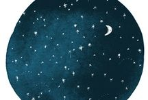 Drawing & Design inspiration - sun moon sea earth sky / by Floating Cloud