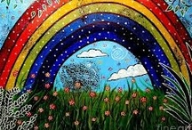 Drawing Design inspiration - rainbow / by Floating Cloud