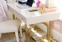{Glam} Home Office / #homeoffice / by Glamamom