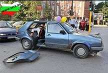 The fun on, off, near roads... / Funny pictures with cars, bykes, etc. / by Мирослав Георгиев