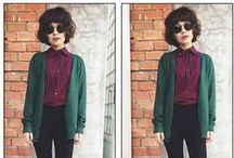Cool + Cold Weather 2015/16 / Fall and Winter Aesthetic and Style for 2015. Hippy librarian style moves into the chilly weather with more cardigans and darker tones.