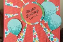 Stampin' Fool & Stampin' Up! Crafts / Stampin' Fool card ideas come from many places.  Some of the cards are mine; cards for inspiration & ideas. I am in LOVE with Stampin' Up products-- And these cards. Which ones do you like?