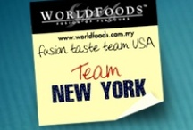 Team New York / These are the reviews of the New York team as part of our US Fusion Taste Team! The more comments, repins and likes you give New York, the more chance they have of winning our contest. Join us on Facebook as WORLDFOODS Fusion of Flavours to see more and for your chance to win sauces!
