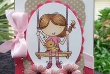 Lil Michelle Swinging By / by AnnaBelle Stamps