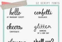 Fonts, Handlettering, and Silhouette Tutorials / Tools, tricks and tips for creating projects with Silhouette e-cutter and a collection of my favorite fonts, font combinations, font pairings, graphic design, free SGV and vector downloads and hand lettering tutorials.