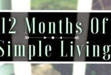 12 Months of Simple Living