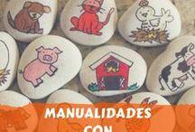 Manualidades con piedras para niños y adultos / Todo lo que puedes imaginar. Manualidades hechas con piedras para padres y niños. Decoración.
