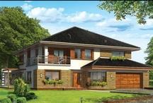 Projekty rezydencji / W tej kategorii znajdują się projekty dużych , eleganckich domów pretendujących do miana rezydencji . Każdy , komu marzy się piękny dom –rezydencja , z pewnością znajdzie tu dla siebie ciekawe propozycje . / by MG Projekt | Projekty Domów