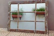 Janelas de demolição / Amooooooo trabalhar com janelas de madeira de demolição! Dá pra criar tanto! Aqui, janelas que eu fiz, e janelas que vi por aí! Inspirem-se!