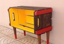 Caixotes / Crates / Dá pra fazer tantas artes com caixotes! E muitas delas são super fáceis! Decorar gastando pouco é tudo de bom!