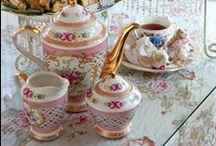 Tea Party / Girl Time, frilly, frou frou, tea, mini sandwiches, hats, tea pots, traditions.