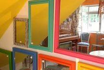 Na parede / Uma das partes que mais amo na decoração é vestir as paredes! Dá pra fazer tanta coisa!