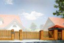 Projekty ogrodzeń MG Projekt / Prezentujemy Państwu do wyboru cztery zróżnicowane projekty ogrodzeń, które z łatwością można dopasować do każdego stylu domu . / by MG Projekt | Projekty Domów