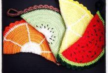 Potholders crochet / Gehaakte pannenlappen. Potholders. Topflappen.