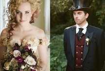 """Victorian Steampunk Bouquets / Better know as Steampunk but also thinking """"The New Victorian"""" trend.   This trend is """"bringing opposites together – masculine paired with feminine; Victorian paired with industrial; leather paired with lace.  This is where you will find the term """"steampunk"""" used or """"neo-Victorianism""""."""