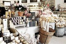 Shop displays / Inspiration board for shop and window displays for floral and retail shop
