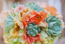 Succulent Bouquets / Succulents in Bridal bouquets, with their unusual texture and those soft desert  colors, somehow bring a vintage and or rustic feel to the bouquet.  Looks like they will still be popular for 2014