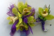 Portland Prom flowers /  Prom flowers by Flowers by Design. No need to be boring when there are so many cool flowers options, new bracelets, bling, beads, crystals, broaches, feathers... Pick out something with your girl and give me a call; 503-758-7090. ($39 min order for delivery most sets cost $49) Or drop by Drake's 7 Dees on Scholls Ferry and speak to Laurie