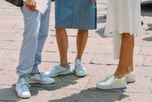 Outfits with sneakers and slipons