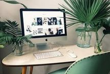 WORKPLACE INSPIRATION / Nice furniture, possibilities for storage, aesthetic workplaces.