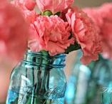 Bottles & Jars for Decor / I love old bottles and canning jars used in home decor!