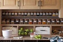 Kitchen Organization / Kitchen Organization: Keep your Kitchen Tools, Pantry, and Spices Organized and Easy To Find with these organization ideas. Your kitchen can be functional and fun to cook and bake in!