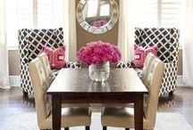 Dining Room / Dining room:  DIy Décor, Plates, Seating Arrangements and more with these beautiful dining rooms