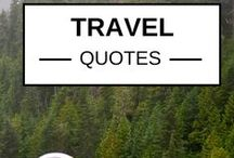 {Travel Quotes & Trip-spiration} / I made this mood board to keep me in the mood for #travel! I love #travelquotes and anything that induces #wanderlust in me! / by Round The World Girl