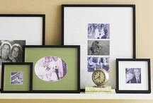 photo collages / We all have so many pictures we'd like to display, but unless they are hung or placed with real intention, they can really cheapen a room/look.  These are some nice ideas.